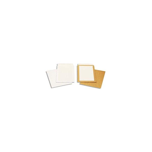 BONG Boîte de 100 pochettes blanches auto-adhésives dos cartonné 250 x 353 mm 120g