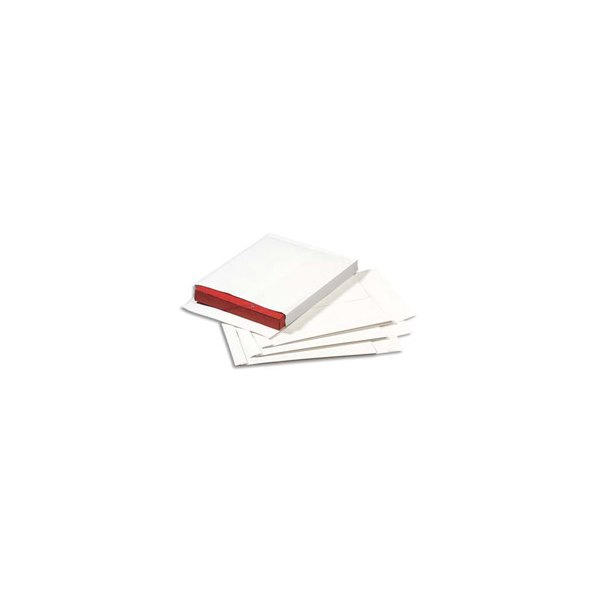 GPV Paquet de 100 pochettes kraft armé 229 x 324 mm et soufflet de 30 mm blanches 120g