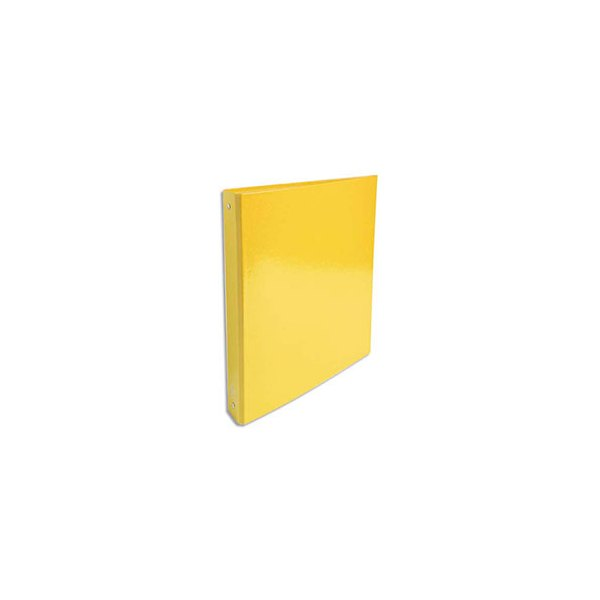 EXACOMPTA Classeur A4 4 anneaux de 30 mm Iderama dos 4 cm coloris jaune