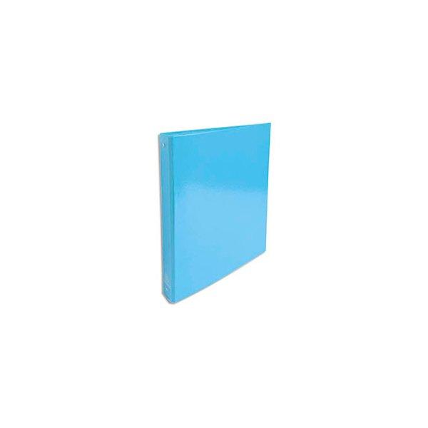 EXACOMPTA Classeur A4 4 anneaux de 30 mm Iderama dos 4 cm coloris bleu clair
