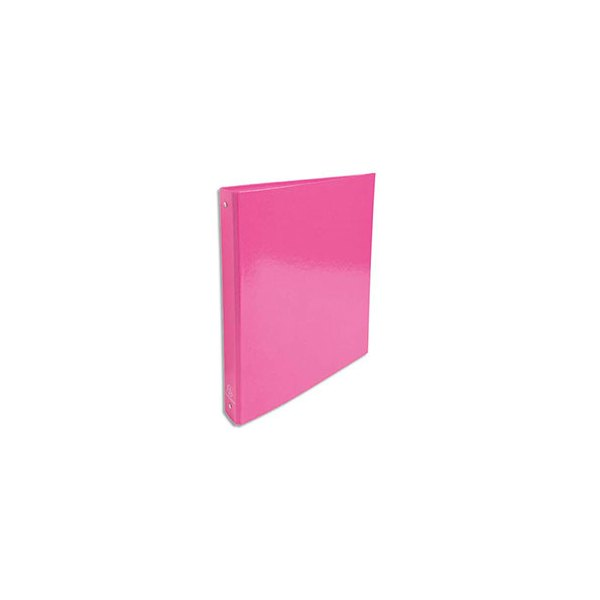 EXACOMPTA Classeur A4 4 anneaux de 30 mm Iderama dos 4 cm coloris rose