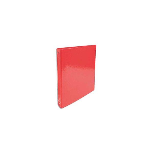 EXACOMPTA Classeur A4 4 anneaux de 30 mm Iderama dos 4 cm coloris rouge