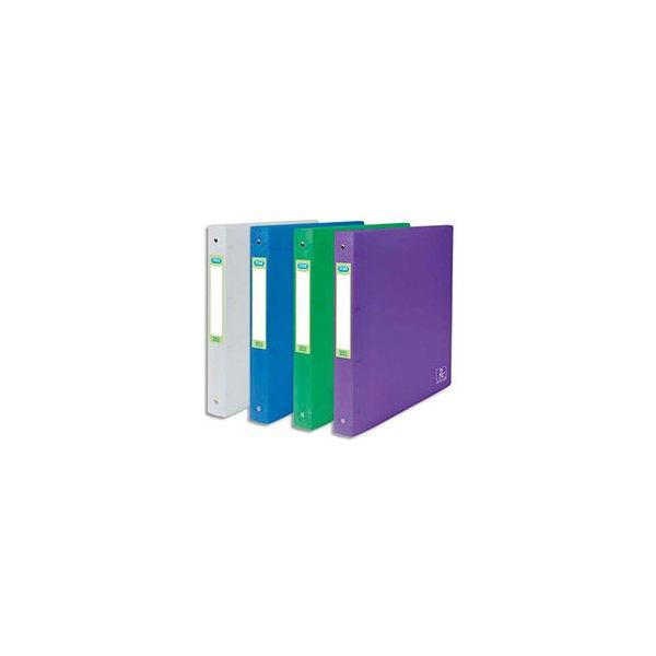 ELBA Classeurs 4 anneaux 15 mm 2nd LIFE en polypropylène 5/10. Dos 2 cm, format A4. Assor