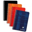 CLAIREFONTAINE Carnet spirale 100 pages 9,5 x 14 cm 5x5. Couvertures carte assortie