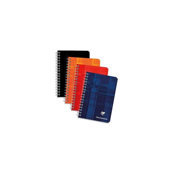 CLAIREFONTAINE Carnet spirale 100 pages 9,5 x 14 cm 5x5. Couvertures carte assortie