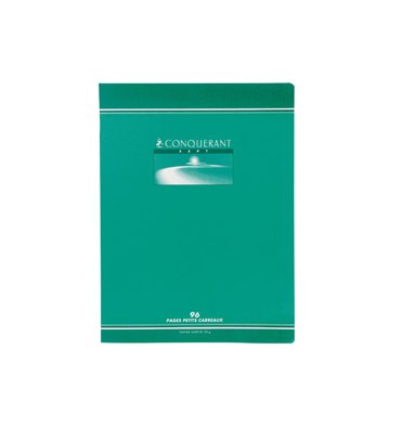 CONQUERANT SEPT BY HAMELIN Cahier reliure piqûre 24 x 32 cm 96 pages 5x5 papier 70g