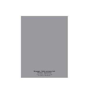 NEUTRE Cahier piqûre 96 pages Seyès 24 x 32 cm. Couverture polypropylène gris