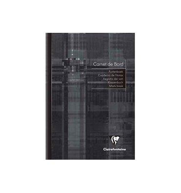 CLAIREFONTAINE Cahier de bord piqûre 40 pages 14,8 x 21 cm. Couverture carte assortie