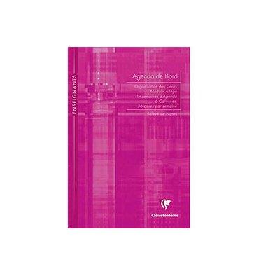 CLAIREFONTAINE Agenda de bord non millésimé 21 x 29,7 cm 144 pages (coins prédécoupés)