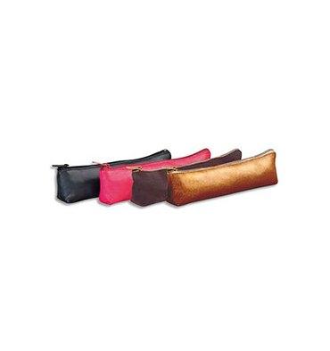 ELBA Petit fourre-tout trapèze unicolore 19,5 x 4 x 1 cm - 4 couleurs assorties