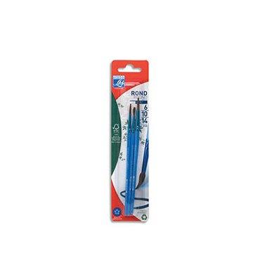 LEFRANC & BOURGEOIS Blister de 3 pinceaux Poil de Poney n° 6 + n°10 + n°14