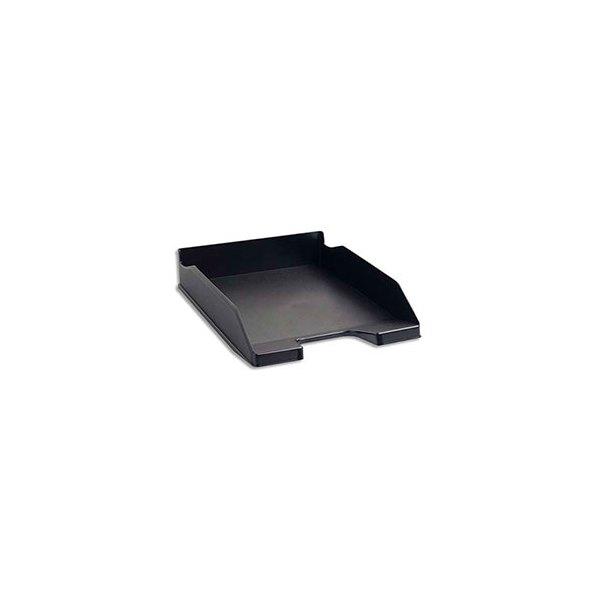 EXACOMPTA Corbeille à courrier ECO BLACK en polystyrène recyclé - 25,5 x 6,5 x 34,7 cm. Coloris noir