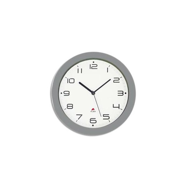 ALBA Horloge murale Hormur/Hornew silencieuse métal gris - pile AA non fournie - Diam 30cm (photo)