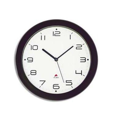 ALBA Horloge murale Hormur/Hornew silencieuse noire - pile AA non fournie - Diam 30 cm