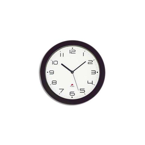 ALBA Horloge murale Hormur/Hornew silencieuse noire - pile AA non fournie - Diam 30 cm (photo)