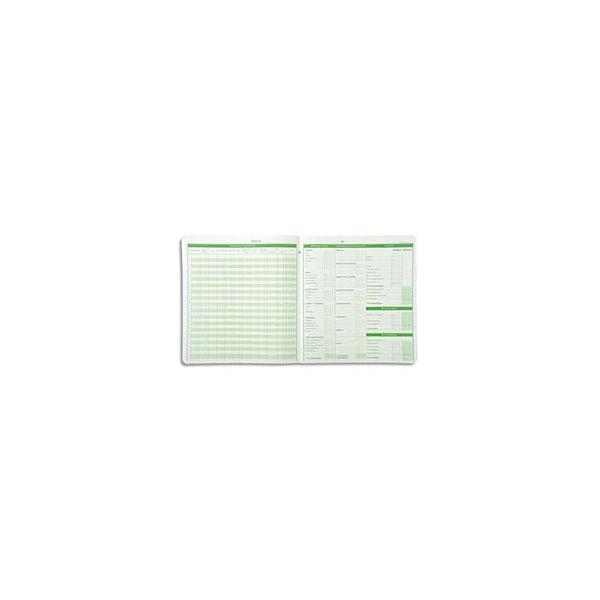 EXACOMPTA Piqûre budget dépenses ménagères 25 x 27 cm 56 pages, 78E