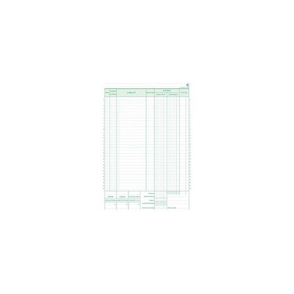 EXACOMPTA Manifold caisse 21 x 29,7 cm 50 feuillets dupli numérotés autocopiants 23550E