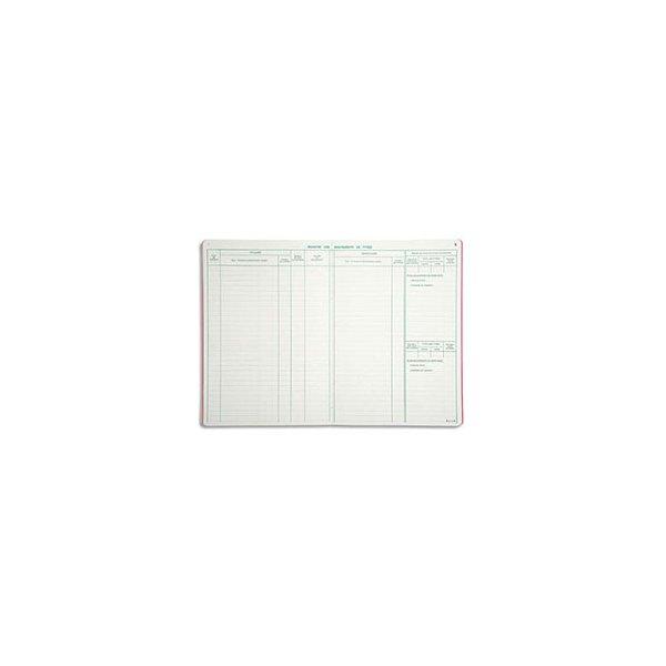 LE DAUPHIN Piqûre registre des mouvements de titres 29,7 x 21 cm vertical 40 pages 5 colonnes