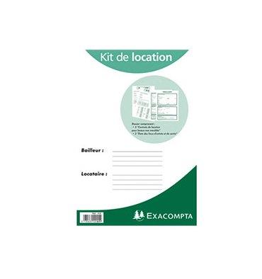 EXACOMPTA Kit dossier location non meublée feuillets contrat de location + état des lieux 41E