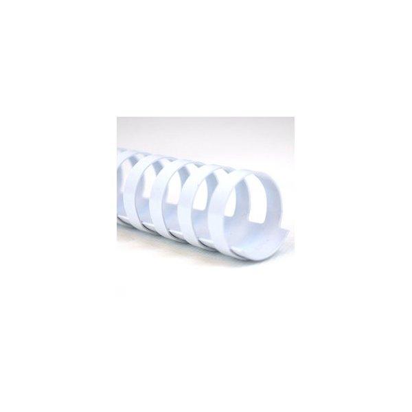 GBC Boîte de 100 Peignes plastique CombBind 19 mm blanc capacité 165 feuilles