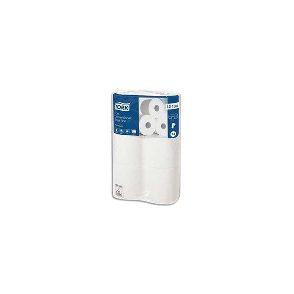 TORK Paquet de 6 Rouleaux Papier toilette Premium micro gaufré 2 plis 198 feuilles
