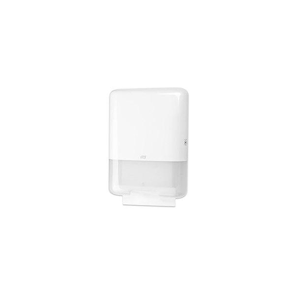 TORK Distributeur pour essuie-mains H3 pliés - 33,3 x 43,9 x 13,6 cm blanc semi transparent