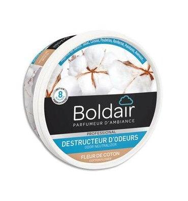 BOLDAIR Gel solide de 300 gr, destructeurs d'odeurs parfum fleur de coton