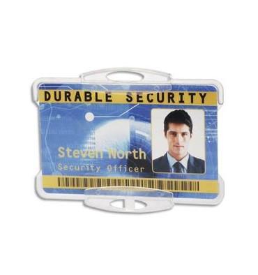 DURABLE Boîte 10 Porte-cartes ouvert pour 1 carte, double perforation sans attache - L8,5 x H 5,4 cm