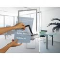 DURABLE Sachet de 2 cadres d'affichage magnétiques Duraframe®, format A4, coloris gris argenté