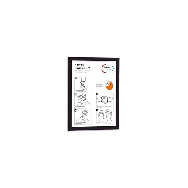 DURABLE Sachet de 2 cadres affichage magnétiques Duraframe®, format A4, coloris noir