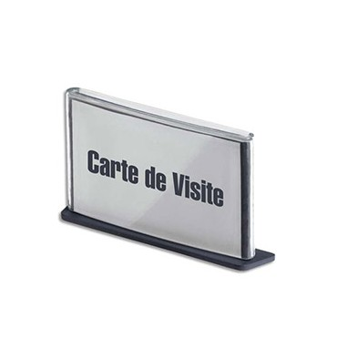 PAPERFLOW Plaque de porte format carte de visite coloris anthracite