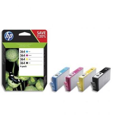 HP Multipack jet d'encre noir + couleur N°364