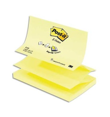 POST-IT Recharge Z-notes 100 feuilles 7,6 x 12,7 cm jaune