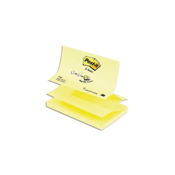 POST-IT Recharge Z-notes 100 feuilles 7,6 x 12,7 cm jaune