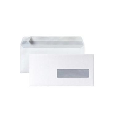 5 ETOILES Boîte de 500 enveloppes DL 110 x 220 mm blanc 75 g à fenêtre 35 x 100 mm auto-adhésive