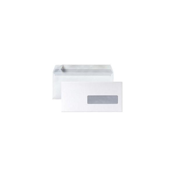 5 ETOILES Boîte de 500 enveloppes DL 110 x 220 mm blanc 75 g à fenêtre 35 x 100 mm auto