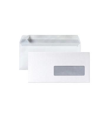 5 ETOILES Boîte de 500 enveloppes DL 110 x 220 mm blanc 75g à fenêtre 45 x 100 mm auto-adhésive