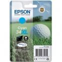 "EPSON Cartouche ""balle de golf"" jet d'encre durabrite ultra cyan XL C13T34724010"