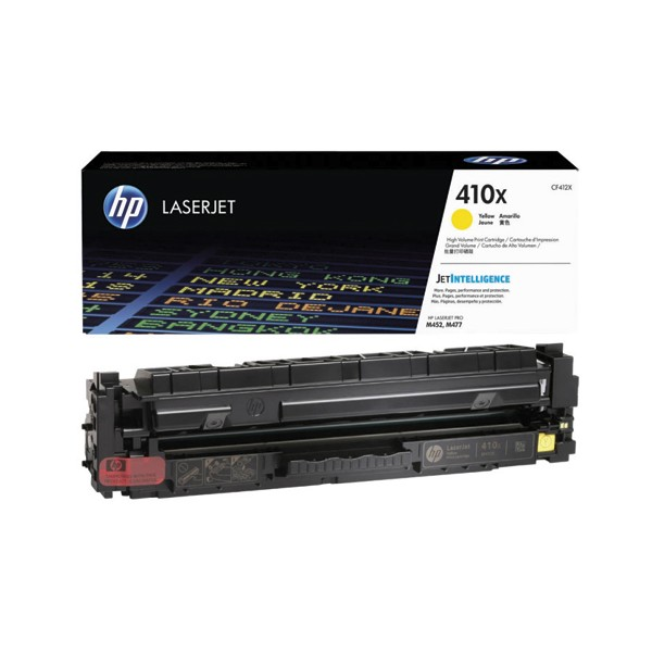 HP Cartouche toner laser jaune haute capacité 410X - CF412X