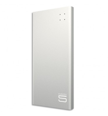 MOBILITY Puridea Powerbank S7 ultra slim 5000 mAh argent S7-SILVER