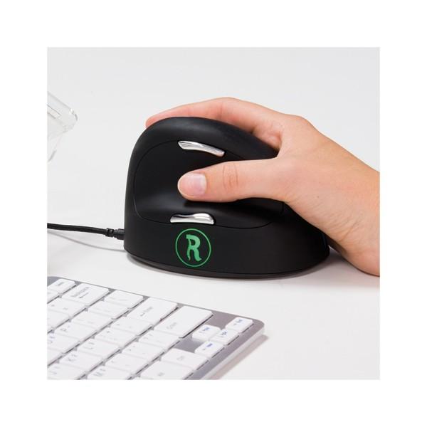 R GO TOOLS R-go HE mouse break, souris ergonomique, logiciel anti-rsi,M/L, droite, filaire RGOBRHEMLR