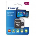 INTEGRAL Micro SDXC + adaptateur 128Go Class 10 90MB/s INMSDX128G10-80SPTAB + redevance