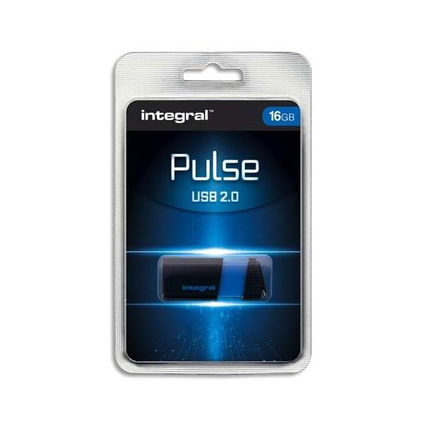 INTEGRAL Clé USB 2.0 PULSE 16Go Bleue INFD16GBPULSEBL + redevance
