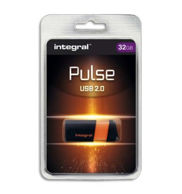 INTEGRAL Clé USB 2.0 PULSE 32Go Orange INFD32GBPULSEOR + redevance