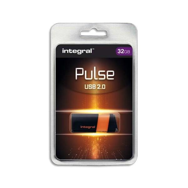 INTEGRAL Clé USB 2.0 PULSE 32Go Orange INFD32GBPULSEOR + redevance