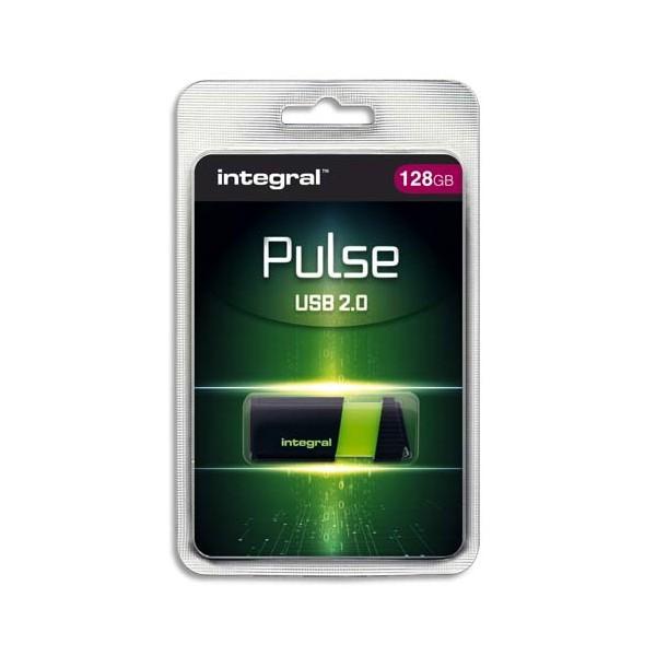INTEGRAL Clé USB 2.0 PULSE 128Go Verte INFD128GBPULSEGR + redevance