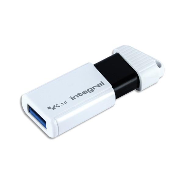 INTEGRAL Clé USB 3.0 128Go Turbo Blanche INFD128GBTURBWH3.0 + redevance