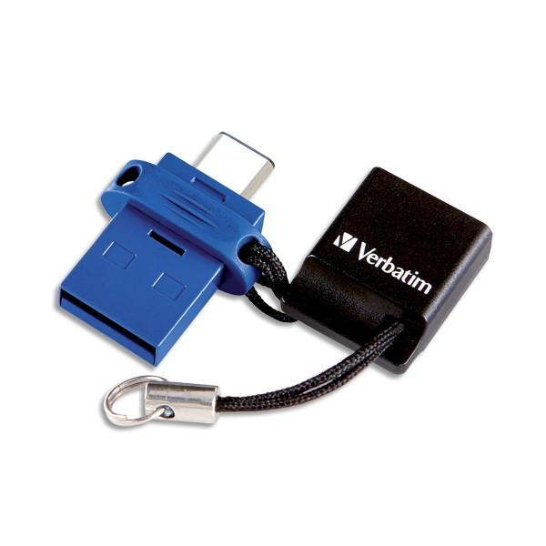 VERBATIM Clé USB 3.0 Store'N'Go Type C Dual 64Go 49967 + redevance