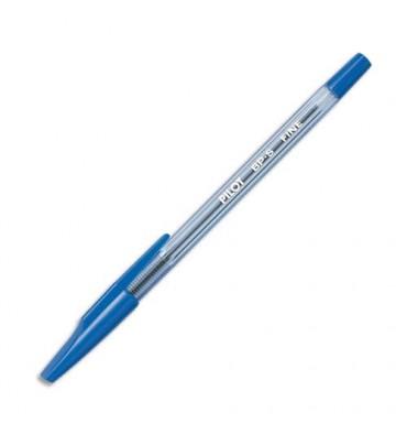 PILOT Stylo à bille rechargeable pointe fine encre bleue corps plastique cristal avec capuchon BP-SF