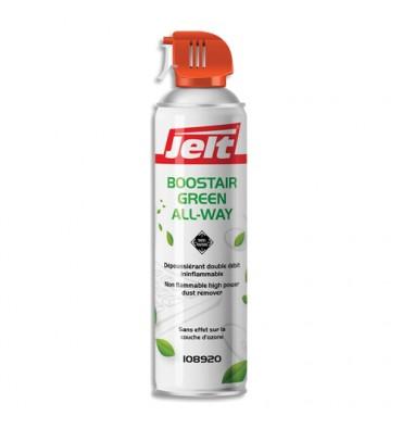 JELT Aérosol dépoussiérant BOOSTAIR GREEN toutes positions gaz 1234ze HFO sans HFC 650ml/300g 108920